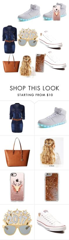 """""""Cowgirl outfit"""" by alyssash20 ❤ liked on Polyvore featuring MICHAEL Michael Kors, ASOS, Casetify, Agent 18 and Converse"""
