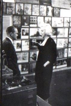 Marilyn at Milton Greene's New York studio, 1955. Photo by Milton Greene.