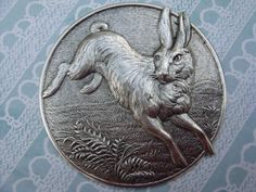 RP: Large Silver Brass Vintage Inspired Rabbit Button | eBay.com