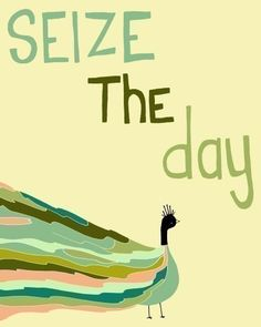 ☮ American Hippie Peacock Art Quotes ~ Seize the Day