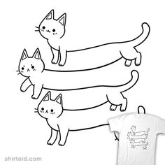 Illusion of Cats | Shirtoid #cat #cats #opticalillusion #taylorross