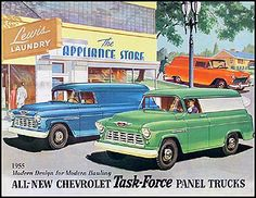 1955 Chevy Panel Truck & Sedan Delivery Sales Catalog Reprint 2nd sers