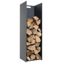 Tall, Upright, Log Holder made from Steel by Stovax. The Stovax Log Holders available in three sizes, small, medium and Tall log holder. Store Fire wood neatly next to the Fireplace or Wood stove.