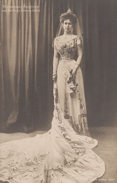 Duchess of Galliera, nee Princess Beatrice of Edinburgh and Saxe-Coburg-Gotha, wife of prince Alfonso of Spain.