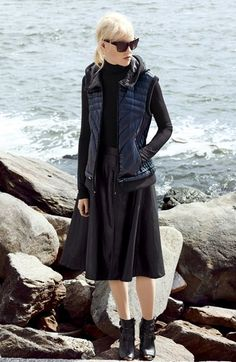 A great fall/winter wardrobe piece: Halogen® Faux Leather A-Line Skirt | Nordstrom