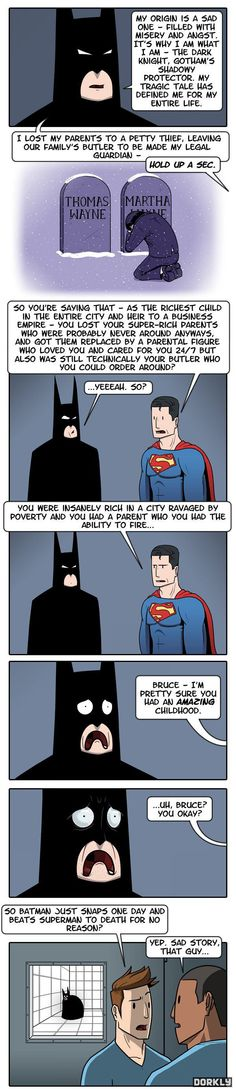 I'm pinning this because I can't stop laughing at Batman's face!