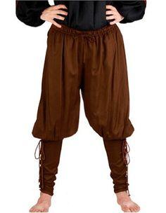 Amazon.com: Pirate Renaissance Medieval Costume Pants Trousers: Clothing