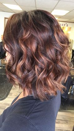 103 trendy brown hair color ideas you can try brown hair colors, brown hair with. 103 trendy brown hair color id. Brown Hair With Highlights, Brown Hair Colors, Brown Auburn Hair, Fall Hair Color For Brunettes, Auburn Highlights, Copper Highlights, Hair Color Highlights, Medium Hair Styles, Curly Hair Styles