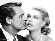Cary Grant & Charlize Theron by sopic84