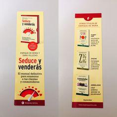 Punto de libro de 'Seduce y venderás' (Empresa Activa) de Enrique de Mora y Sara Villegas Funny, Album, Humor, Signs, Book, Dots, Cheer, Novelty Signs, Ha Ha