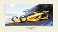 Three Wheel Personal Transportation Vehicle by GaryCampesi on DeviantArt Concept Motorcycles, Custom Motorcycles, Cyberpunk, Reverse Trike, Buick Skylark, Third Wheel, Car Drawings, Automotive Art, Art Model