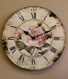 shabby chic vintage wall clock                                                                                                                                                     More