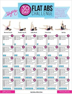 Blogilates 30 day flat ab challenge!  http://www.blogilates.com/blog/2014/12/29/30-day-flat-abs-challenge/