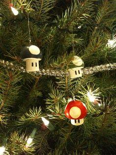 mario mushroom ornaments- party favors?