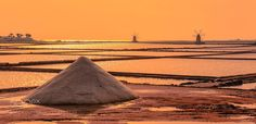 Sicilian Salt Sunset