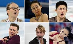 Caught leaping and twirling, these pictures show athletes' decidedly odd facial expressions as they perform their routines.