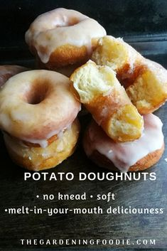 Super soft and fluffy, these Potato Doughnuts is an absolute classic recipe. Mad… Super soft and fluffy, these Potato Doughnuts is an absolute classic recipe. Made using mashed potatoes as one of the ingredients to create a soft textured doughnut. Mashed Potato Donut Recipe, Soft Donut Recipe, Baked Doughnut Recipes, Baked Doughnuts, Doughnut Muffins, Donuts Donuts, Classic Doughnut Recipe, Potato Muffins Recipe, Appetizers