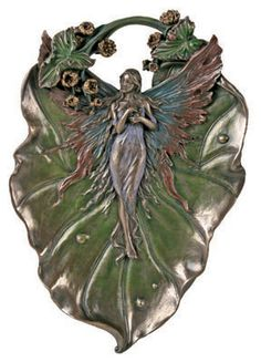 Fairy Leaf plate or tray (Art Nouveau style but recently made)