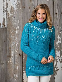775acfed93e4 Best Crochet Patterns for Winter to Download 2016! Crochet Pullover  PatternCrochet ...