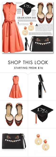 """Dr who"" by mood-chic ❤ liked on Polyvore featuring Rumour London, Bobbi Brown Cosmetics, Zara, Fendi, Tory Burch and graduationdaydress"