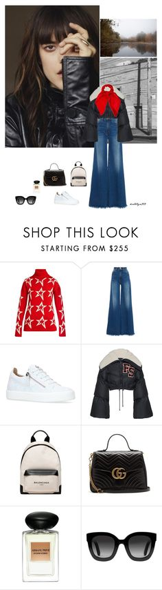 """Friendship"" by katelyn999 ❤ liked on Polyvore featuring Perfect Moment, Frame, Giuseppe Zanotti, Puma, Balenciaga, Gucci, Giorgio Armani and Louis Vuitton"