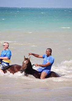 Things to do inJamaica: Horseback riding in the ocean!