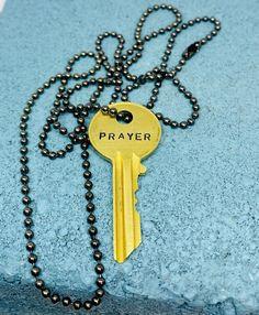 Prayer Kingdom Key Necklace