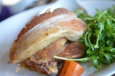 Brome Lake duck confit and roasted pork belly