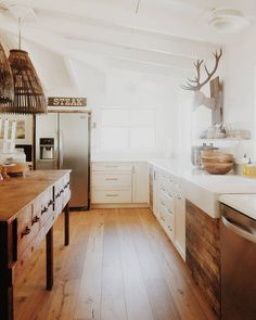 Name: Jennifer Location: Newbury Park, California Our home is a 1959 post and beam ranch home (1,143 square feet) on nearly one acre of horse property. We gutted 3/4 of the home, leaving original character such as open beam ceilings. The three bedroom home is now a two bedroom with a large open concept living space that works for us