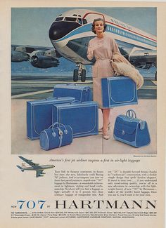 ad for Hartmann luggage; Hartmann is still producing great luggage that's made in the great state of Tennessee