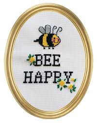 Bilderesultat for geriljabroderi tekst Bee Happy, Modern Cross Stitch, Homemade Gifts, Cross Stitching, Fiber Art, Stitch Patterns, Diy And Crafts, Embroidery, Sewing