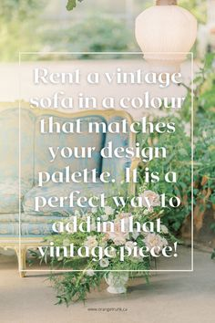 Adding Vintage rentals without creating a vintage theme wedding is doable! Let us help you. Read the blog today for ideas. Vintage Wedding Theme, Wedding Themes, Wedding Vendors, Wedding Designs, Wedding Events, Wedding Decorations, Weddings, Vintage Dressers, Vintage Sofa