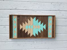 Reclaimed Wood Wall Art Wood Wall Art Painted by PastReclaimed