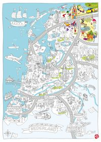 Color, play and discover the Netherlands with this delightful children's map! Creative Teaching, Creative Activities, Fun Activities, Netherlands Map, Pictorial Maps, Maps For Kids, Dutch Artists, Summer School, Colouring Pages