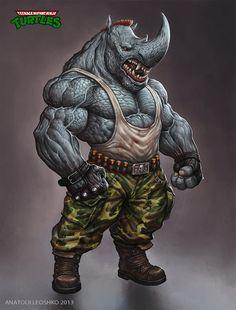 Rocksteady (Teenage Mutant Ninja Turtles) KhezuG on DeviantArt Ninja Turtles Art, Teenage Mutant Ninja Turtles, Fantasy Creatures, Mythical Creatures, Comic Books Art, Comic Art, Character Art, Character Design, The Villain