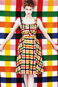Make a colorful statement in a bright graphic print dress. See more here.