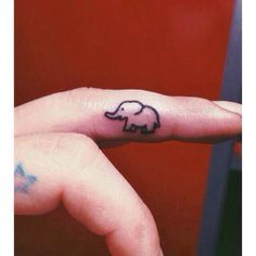 Elephant finger tattoo, finger tattoo, small tattoo, elephant tattoo❤️❤️❤️
