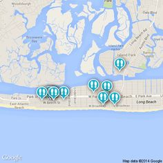 Long Beach, NY is a fun place to be during summer. Check out all the places to go on this map. #LongIsland #LongBeach #NewYork #summer http://www.strayboots.com/p/d79q