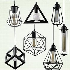 Cheap light fixtures, Buy Quality iron cage directly from China cage lampshade Suppliers: Retro indoor lighting Vintage pendant light LED lights 24 kinds iron cage lampshade warehouse style light fixture Vintage Pendant Lighting, Kitchen Pendant Lighting, Kitchen Pendants, Vintage Lamps, Vintage Table, Bathroom Light Fixtures, Pendant Light Fixtures, Pendant Lights, Bathroom Lighting