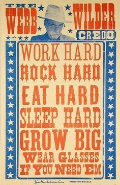 work hard..rock hard...