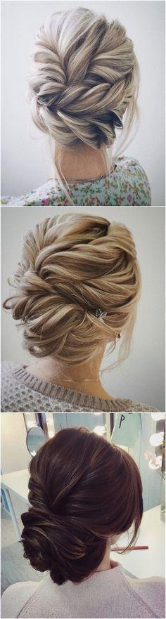 beautiful twisted updo wedding hairstyle ideas #weddinghairstyles