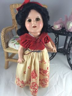 "Beautiful 13"" composition Ideal Snow White! This dolls composition is wonderful! Very little crazing. She is in wonderful condition and displays so sweetly. 