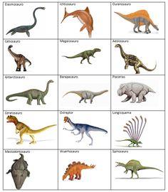 Carte dei dinosauri in versione flashcards per giocare e imparare i nomi e i periodi in cui sono vissuti.