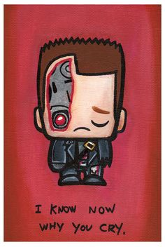 Terminator | 17 Adorably Emo Paintings Of Your Favorite Pop Culture Icons