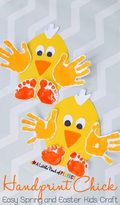 Handprint Chick - Easter and Spring Kids Crafts