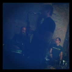 """@thequeenskickshaw's photo: """"It's some kind of blue with the Sean Nowell trio. Live @QueensKickshaw now til midnight."""""""