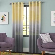 yellow and gray curtains - Google Search