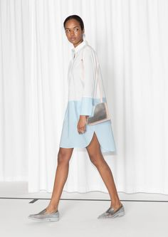 & Other Stories | Colour Block Shirt Dress