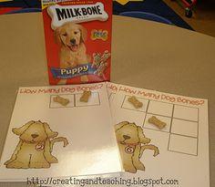 Dog bone math activity...I need to remember this!