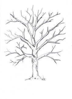 Art Drawings For Kids, Easy Drawings, Dead Tree Tattoo, Tree Drawings Pencil, Tree Drawing Simple, Family Tree Art, Tree Stencil, Tree Templates, Tree Artwork